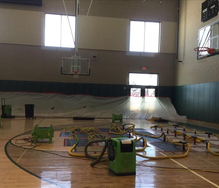 Getting this school back in order after storm damage